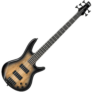 Ibanez Gio GSR205SMNGT 5 String Bass Guitar - Spalted Maple, Natural Grey Burst