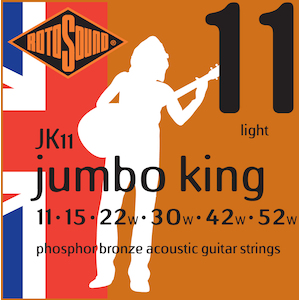 Rotosound Acoustic Strings 11-52 Phosphor Bronze