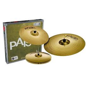 Paiste 101 Cymbal Pack 14 inch Hi Hats, 16 inch Crash and 20 inch Ride