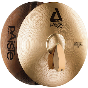 Paiste Alpha 16 inch Pair Concert Marching Cymbals