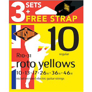 Rotosound 10-46 Electric Strings 3-Pack
