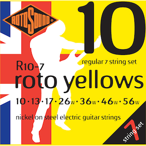 Rotosound 7-String Electric Guitar Strings 10-56