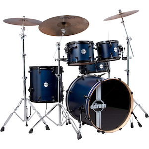DDrum Reflex RSL 5-Piece Drum Kit, Blue Satin