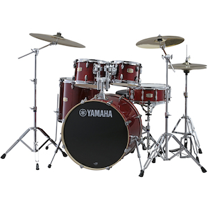 Yamaha SBP2F5 Stage Custom Birch Drum Shell Kit, Cranberry Red