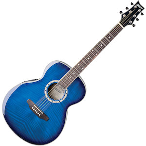 Ashton SL29 Slimline Acoustic Guitar, Transparent Blue