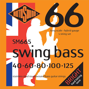 Rotosound Swing Bass 5 String Stainless Steel Set 40-125