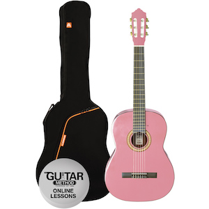 Ashton Classic Guitar Pack 1/4, Pink