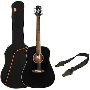 Ashton SPD25  Acoustic Guitar Pack, Black