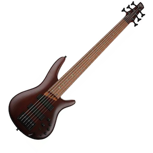 Ibanez SR506E SR Bass Guitar 6 String, Brown Mahogany