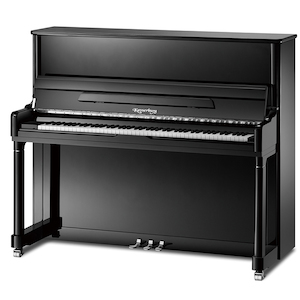 Kayserburg UH126 UH126 Upright Piano, Polished Ebony