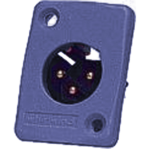 Whirlwind XLRM Connector Blue