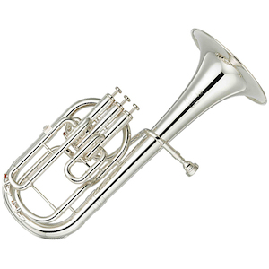 Yamaha Tenor Horn, Silver Plated, Pro Model