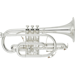 Yamaha Cornet, Bb Silver Plated, Gold Bell