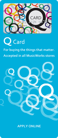 MusicWorks also Accepts Mastercards Q Mastercard