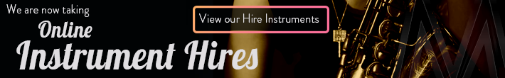 We are now taking online instrument hires at MusicWorks